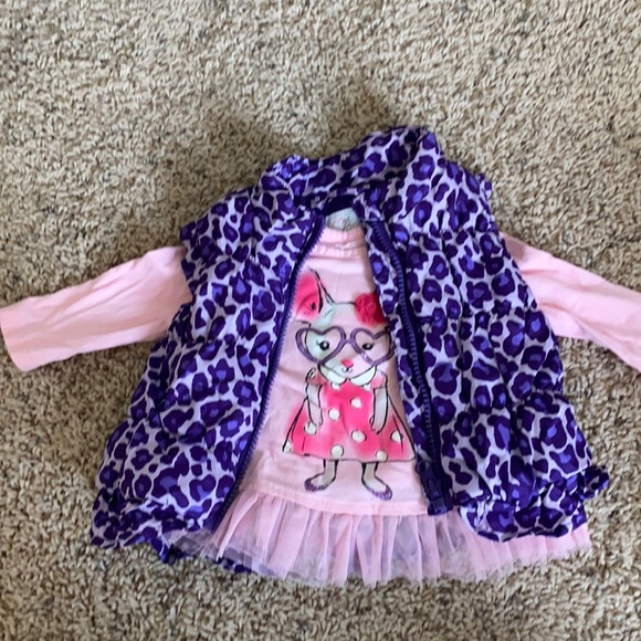 The Children's Place baby girl vest and shirt